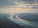 Blick vom Drachenfels, Öl auf Leinw., 100 x 140