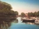 Yachthafen Mondorf, Öl auf Leinw.,50 x 70