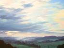 Bergische Landschaft, Abend, Öl auf Leinwand, 80x80