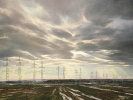Niederrhein-Landsch., Öl auf Leinw., 90 x 120