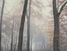 Waldweg, Öl auf Leinwand, 100 x 80