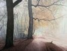 Waldweg, Öl auf Leinwand, 90 x 90